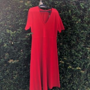 J Crew A line Red Sweater Dress